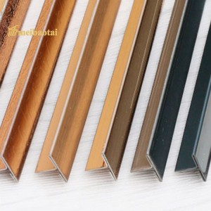 PVD Color Coating Hairline Matt Polish Finish Stainless Steel T Tile Trims SS T Profiles