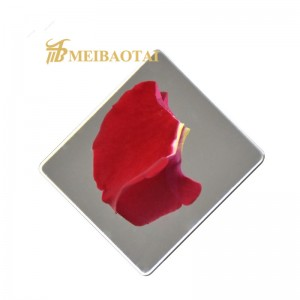 Mirror Finish Grade 304 Stainless Steel Sheet with PVC Coating