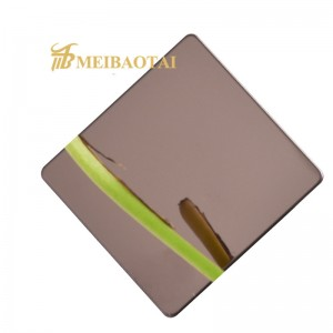 Custom Color Grade 201/304 mirror pvd color coating finished stainless steel plate made in meibaotai factory