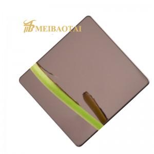 Golden Silver Mirror Decoration Plate 201 Stainless Steel Sheet