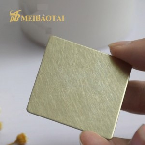 201 Color Vibration Stainless Steel Sheet for Wall Panel