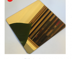 PVD Golden Mirror Plate 304 Stainless Steel Plate