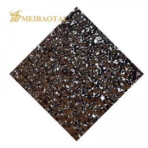 Stamp PVD color coating surface stainless steel for decorative club/KTV