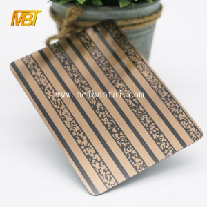 Bronze Color 201 3d wall plate decorative sheets