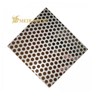 factory price perforated stainless steel sheet decorative sheet