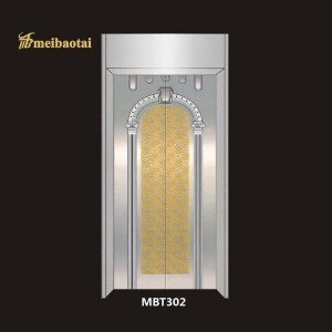 Mix Golden Silver Mirror Brush Design Etching Plate Elevator Lift Plate 304 Stainless Steel Sheet Export to Dubai