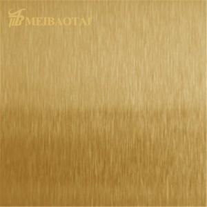 Hot Sales PVD Black Golden Blue Rose Color Coating Four Feet NO.4 Hairline Anti-finger print Design Grade 201 Stainless Steel Sheet for Decoration Wall Sheet