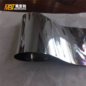 SUS 304/316/334 thickness 0.01 and 0.15mm finish 8k/10k12k stainless steel sheet