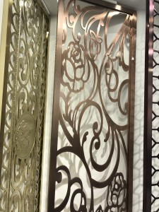 Flower Pattern Laser Cutting Metal Partition Brass 8mm Aluminum Material Decoration Partition