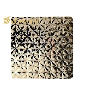 high quality stainless steel sheet stamped stainless steel color plate for sale decorative 3d wall panels