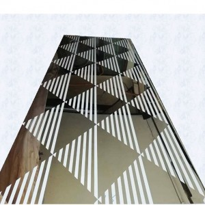 8K Mirror Polish Mix Etching Design Pattern Plate 201 Stainless Steel Plate Elevator Lift Decorative Plate