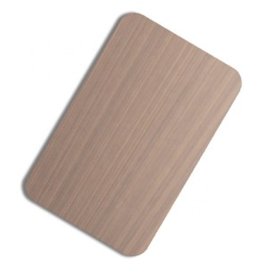 Anti fingerprint PVD Rose Gold Bronze Color Coating Grind NO.4 Design Finish 201 Stainless Steel Sheet for Decorative Wall Luxury Sheet
