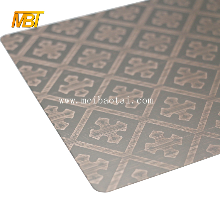 Color Stainless Steel Bronze Sheet  for outdoor Featured Image