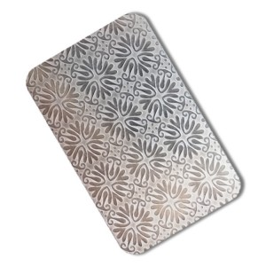 india flower Embossed Stainless Steel 430 8K MirrorWall Decorative Embossed Stainless Steel Sheet