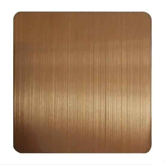 PVD Antique Bronze Decoration Sheet Four Feet 0.65mm Grade 201 Stainless Steel Sheet for Luxury Wall Decoration Plate Featured Image