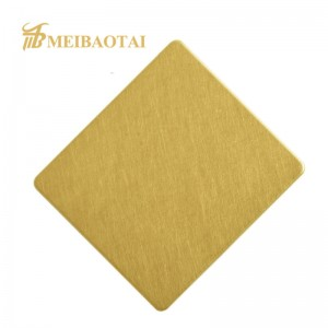 Gold Stainless Steel Vibration Sheet for Interior Decorative Wall Panel