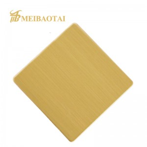 High Grade 201J1 201J2 Stainless Steel Plate 0.75mm PVD Golden Black Rose Silver Hairline Decorative Wall Plate