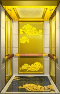 factory price  custom  gold mirror color etche elevator stainless steel
