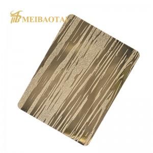 Custom embossed PVD color coating stainless steel sheet