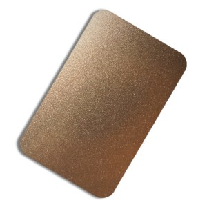 High Quality Rose Golden Silver Bronze Color Plate Sand Blast Plate Decorative Plate 0.75mm 410 Stainless Steel Plate for Luxury Wall Plate
