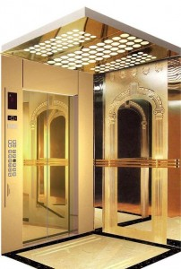 Grade 304 Mirror Etching Stainless Steel Passenger Elevator for Hotel