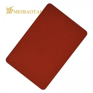 HIGH QUALITY SANDBLAST  PVD COLOR COATING STAINLESS STEEL  SHEET