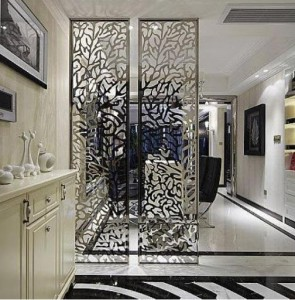 Laser Stainless Steel Decorative Room Divider Stainless Steel Screen
