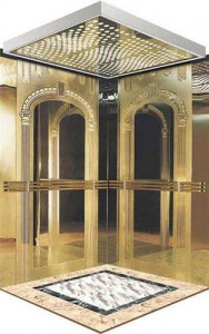 elevator stainless steel  grade 304 etched/mirror/emboss…..