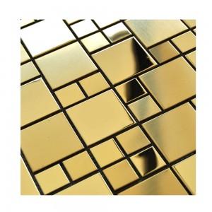 Hot Sale Polish Matt Mix Technology Design 8mm Thickness 12′*12′ 201 Stainless Steel Mosaic Ceramic Tile