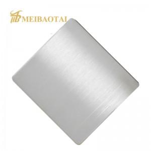 Silver Hairline No.4 Brush Design Finish Antirust Waterproof 430 Stainless Steel Sheet