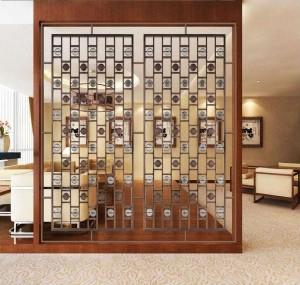 PVD Black Golden Rose Color Design Modern Style Aluminum/Stainless Steel Material  Decoration Partition Divider