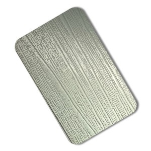 wooden pattern sliver matt Embossed Stainless Steel Sheet