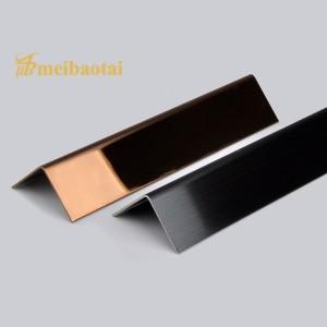 Stainless Steel Corner Trim PVD Black Rose Golden Color Coating Decorative SS Trim Stainless Steel Trim Moulding