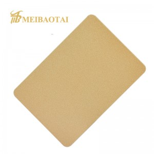 Color Coating Sandblast Stainless Steel Sheet For Hotel Dercoration