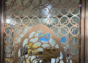 screen laser cutting stainless steel sheet decorative  living room/office