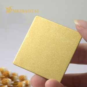 grade 304  201  sandblast mirror color pvd color coating stainless steel sheet