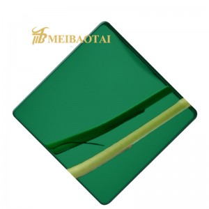 8K Mirror color  Polished Stainless Steel Sheet Price