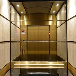Mirror Etching Stainless Steel Passenger Elevator for Hotel