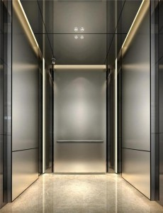 Hairline Stainless Steel Hospital Passenger Elevator