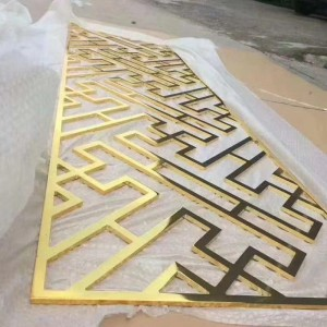 custom screen stainless steel   mirror finish laser cutting  high quality