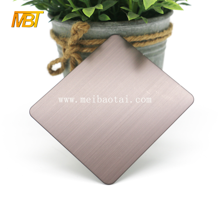 hairline bronze color stainless steel sheet for room dividers Featured Image