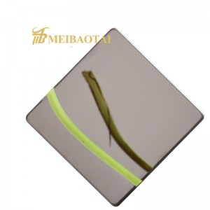 Grade 201 Mirror Stainless Steel Sheet Stainless Steel Decorative Wall Covering Sheets Mirror Finish Stainless Steel