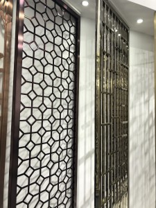 Gold Stainless Steel Room Divider for Hall