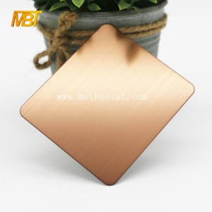 Bronze Color Embossed Stainless Steel Sheet