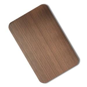 hairline red bronze antique steel sheet