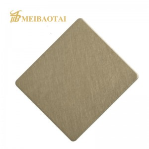 Profeesional Manufactruer Vibration Stainless Steel Sheet for Wall Panel