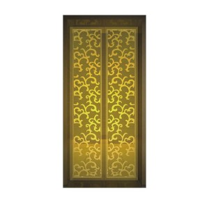Custom etched/emboss/mirror color stainless steel sheet decorative elevator