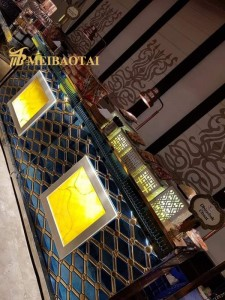PVD Double Color Stamped Technology Diamond Design Decoration Plate 201 Stainless Steel Plate for Decoration Counter Plate Hot Sales in India