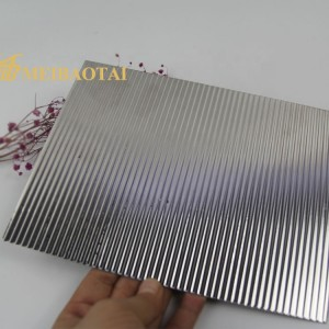 Grade 304 PVD Titanium Coated Stamped Stainless Steel Sheet for Decorative