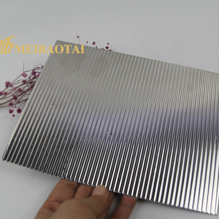 Golden Silver Stamped Plate 1220*2440mm 0.65mm 201 Stainless Steel Plate for Decoration Wall Plate Featured Image